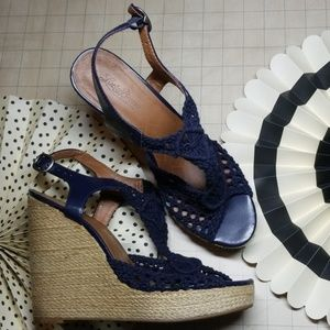 Lucky Brand Platform Crochet Sandals size 10